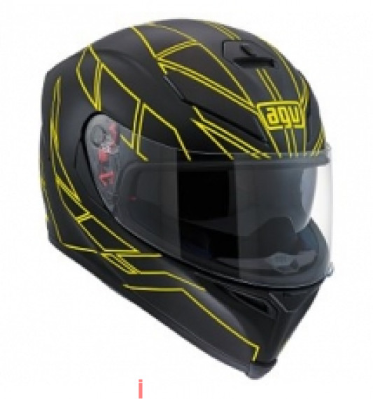 AGV K5 HERO BLACK/FLUO YELLOW