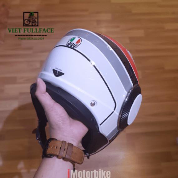 AGV Orbyt Breba Glossy - Mũ bảo hiểm 3/4 AGV 2 kính