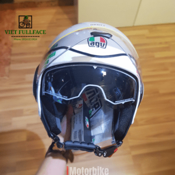 AGV Orbyt GINZA White Red Green