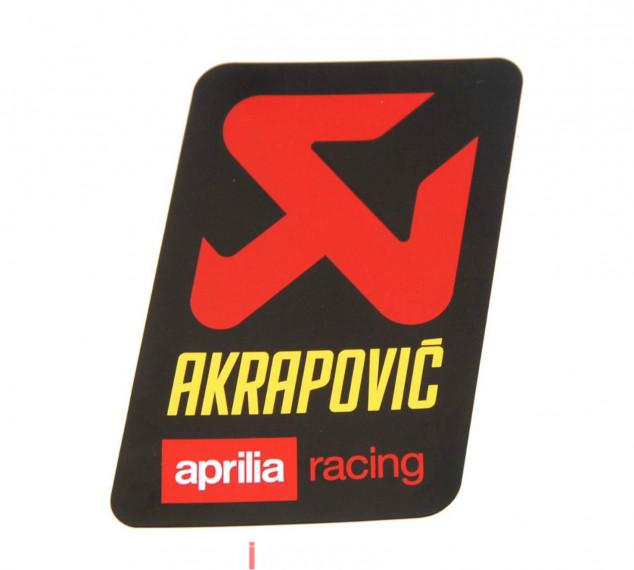 AKRAPOVIC TEM NHÔM APRILIA RACING