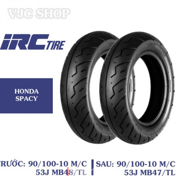 Cặp lốp vỏ xe Honda Spacy hãng IRC size 90-100-10 và 90-100-10 loại không dùng săm - 97361100I