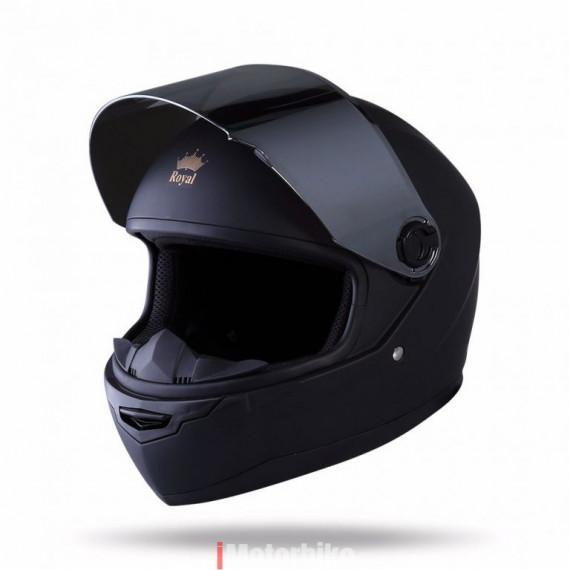 (1) Mũ Fullface Royal M136 đen trơn